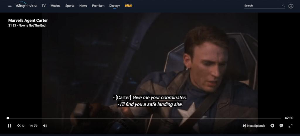 Dark UI rolled out on Disney+ Hotstar web application