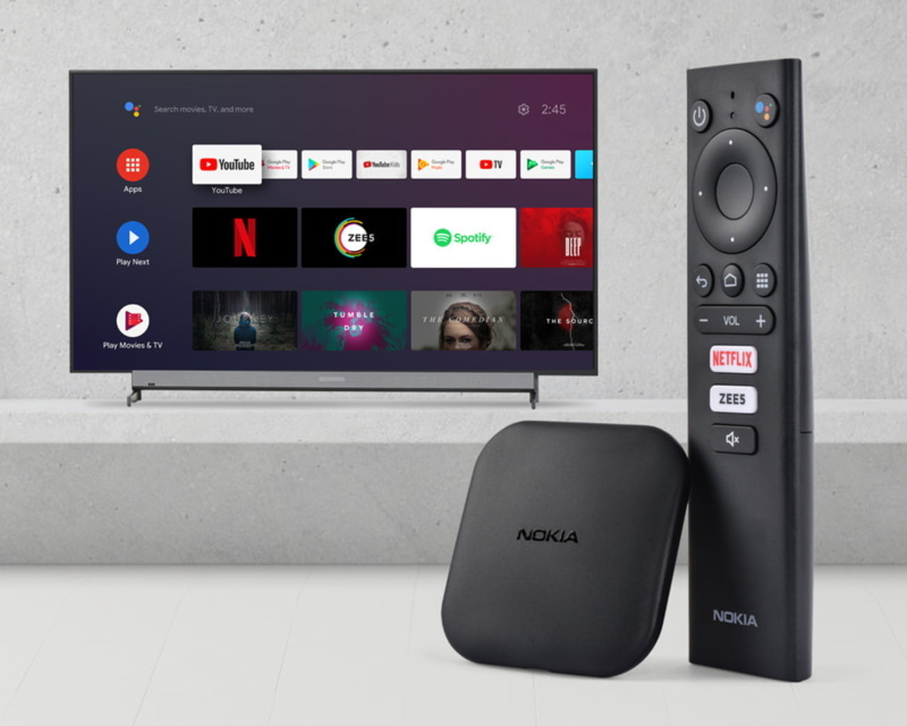 Nokia Media Streamer with quad-core processor, Android 9 launched in India for Rs. 3,499