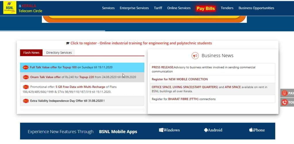BSNL Kerala offers Onam Talk Value offer of Rs.240 for Topup 220 up to 6th September
