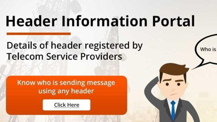 TRAI Header Information Portal