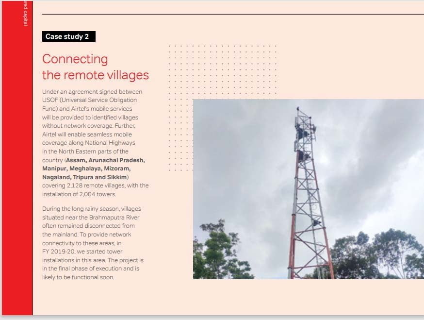 Airtel in final phase of execution of installing 2000+ towers in North East under USOF agreement