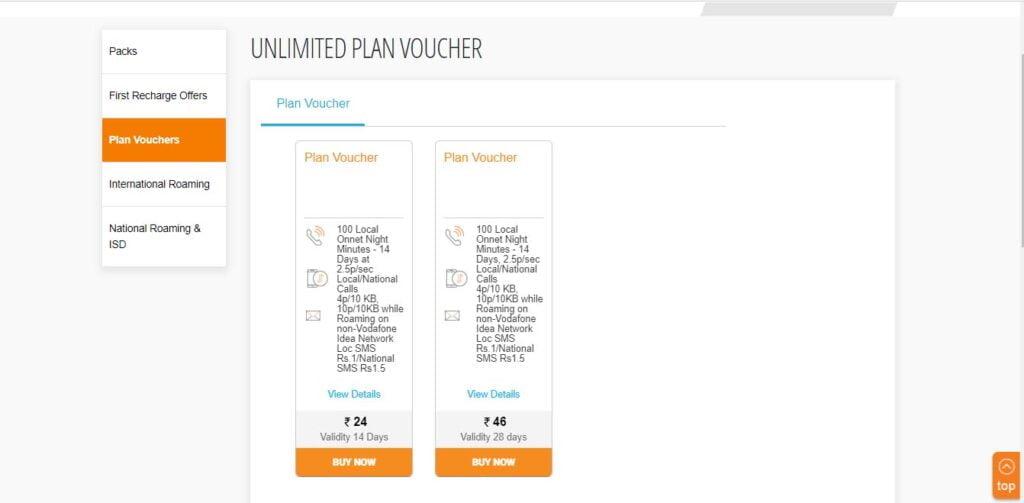 Vodafone Idea launches Rs 46 Plan Voucher