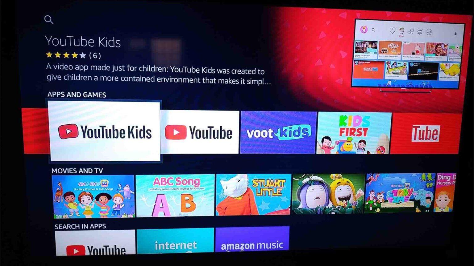 YouTube Kids Fire TV