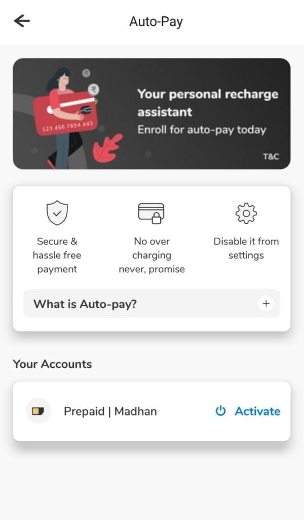 Airtel Auto-Pay for prepaid customers goes live, offers select prepaid plans to users depending on current plan