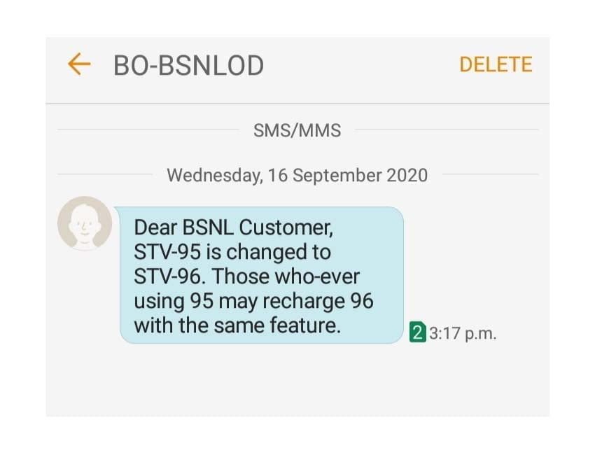 BSNL Odisha replaces STV-95 to STV-96