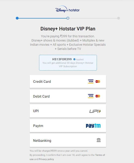 Disney+ Hotstar offering 13 months subscription on buying VIP subscription this weekend