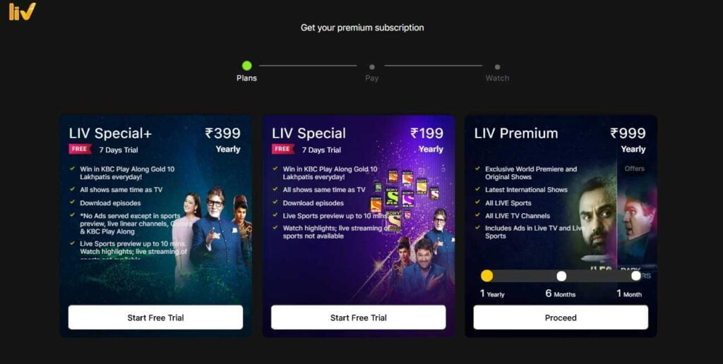 SonyLIV launches LIV Special at Rs 199 and LIV Special+ at Rs 399