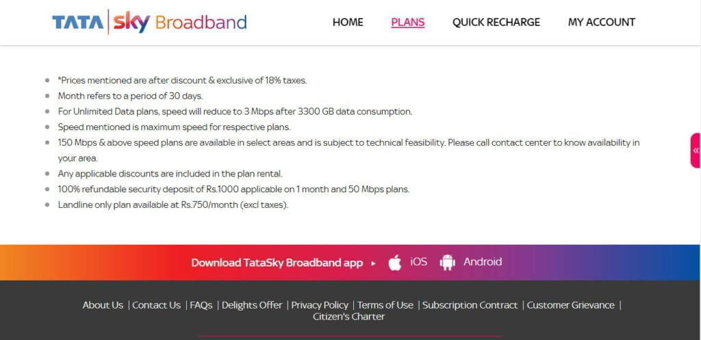 Tata Sky Broadband launches Landline only plan at Rs 750 per month