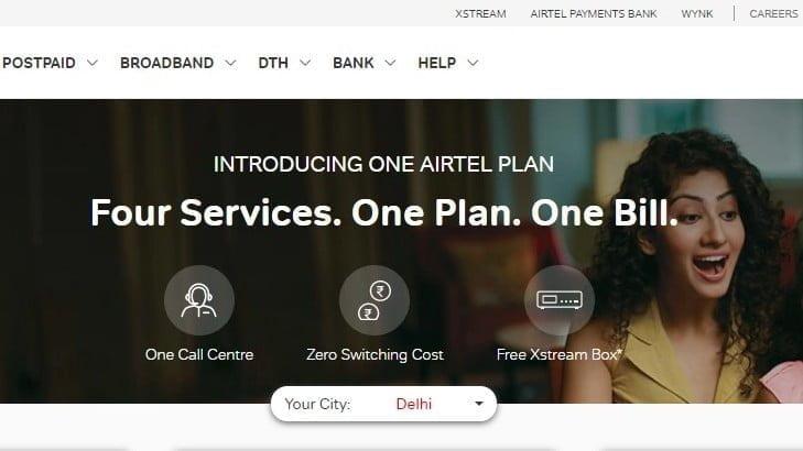 One Airtel Plan New