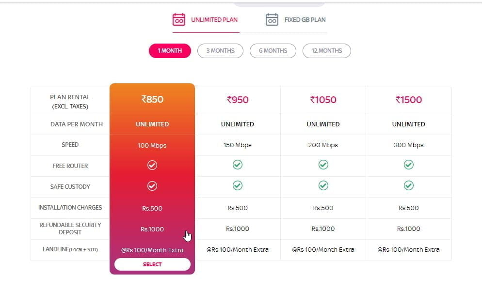 Tata Sky Broadband launches 200 Mbps unlimited plan