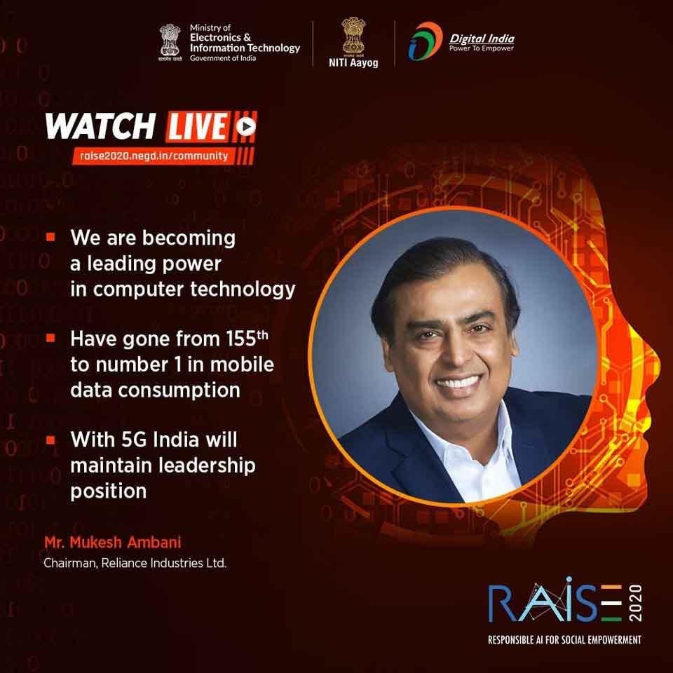 BharatNet initiative will put India among the top nations in fixed broadband: Mukesh Ambani