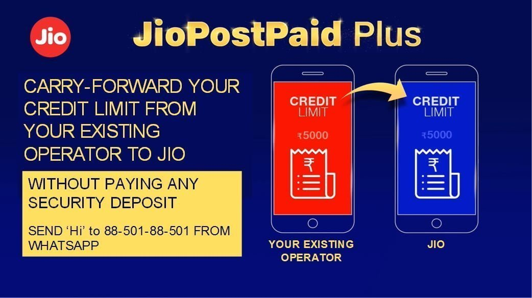 Jio Credit Limit