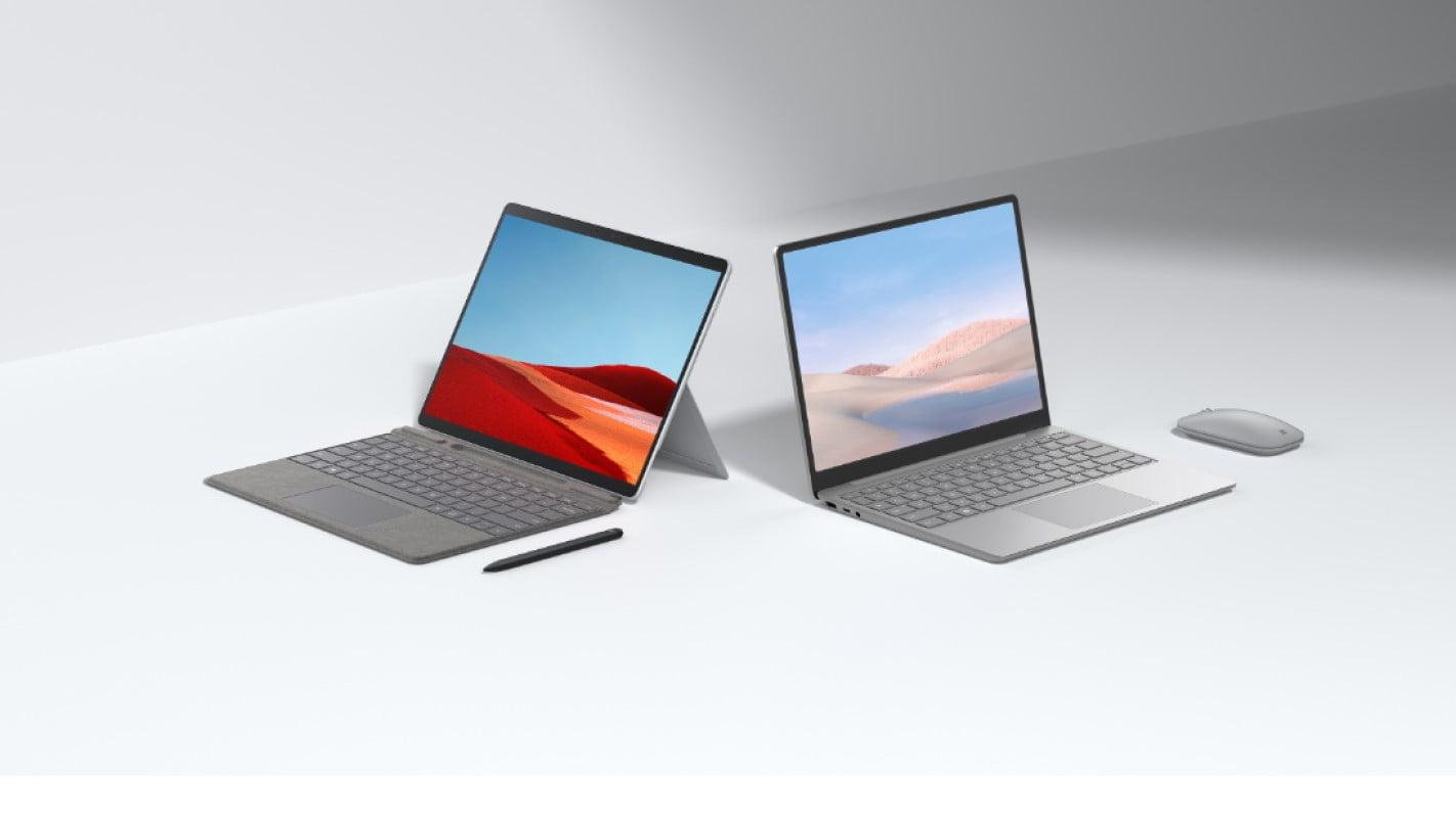 Surface Laptop Go Surface Pro X