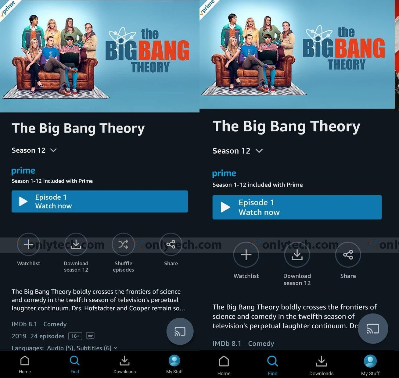 Amazon Prime Video is testing an episodic shuffle option for sitcoms