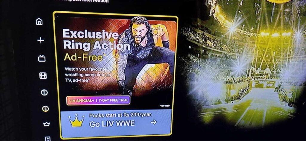 WWE Test SonyLIV 3