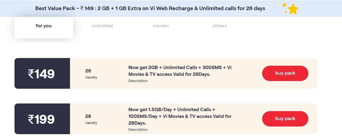 Vi offers Rs 50 off on Rs 249 prepaid plan for select customers