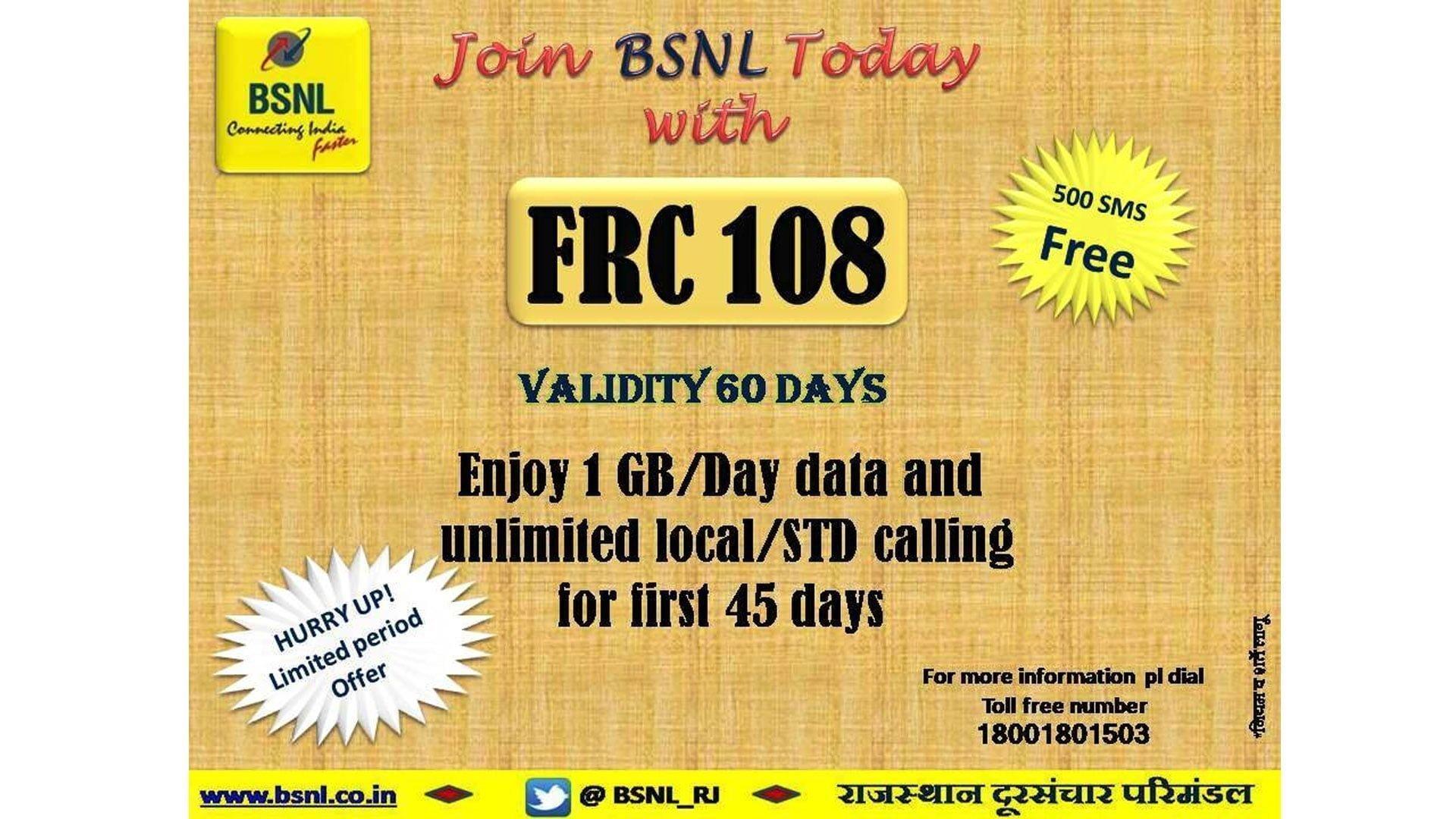 BSNL FRC 108 February 2021