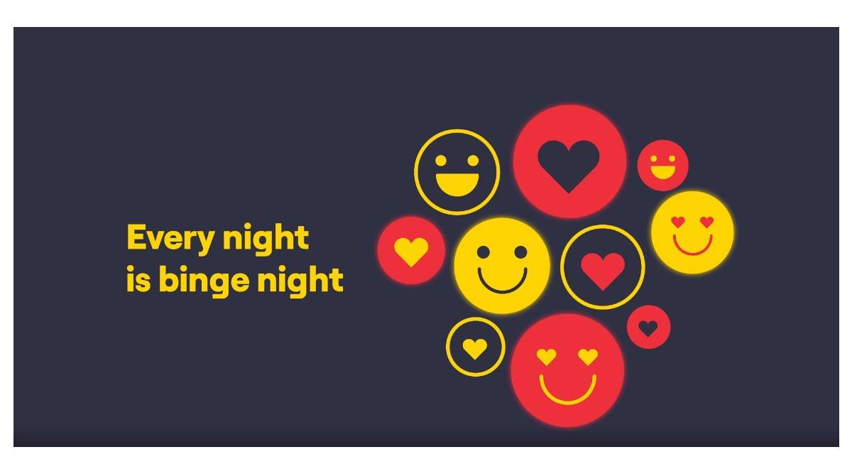 Vi Binge All Night Data AMP Banner