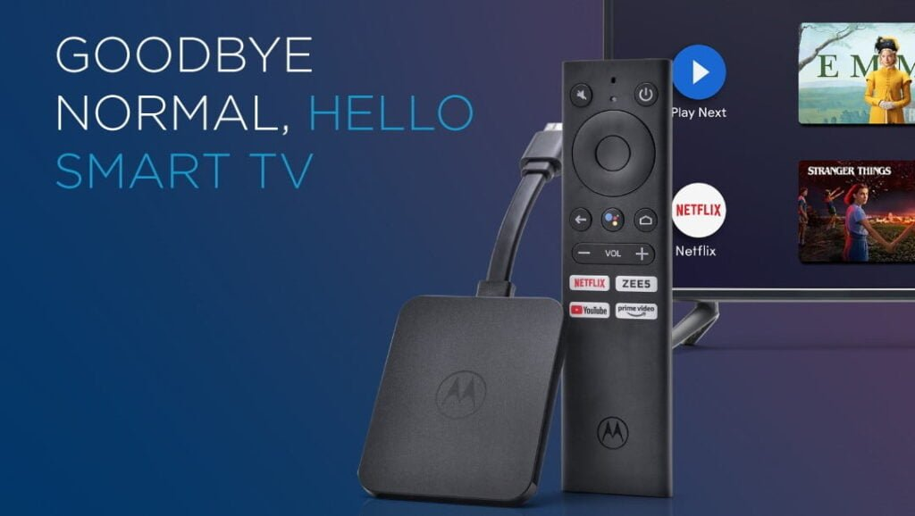 Flipkart launches Motorola 4K Android TV Stick in India; features 4K resolution, 60 fps, and HDR support
