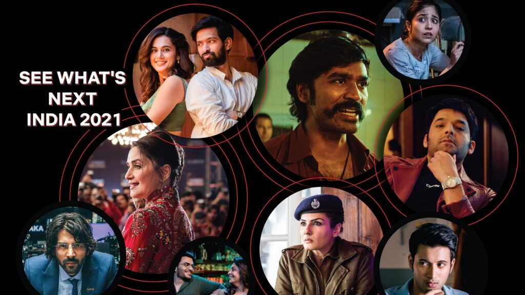 Netflix India unveiled a star-studded 2021 line-up of Indian Originals