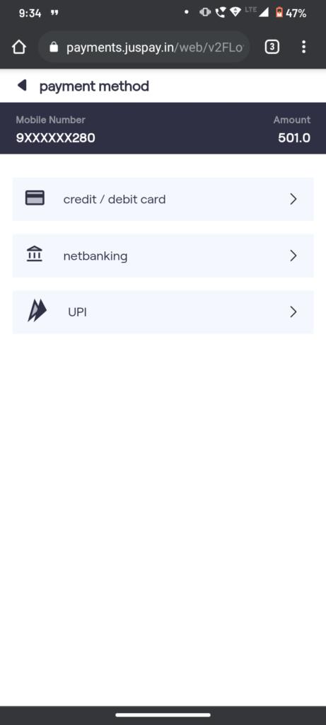 Payment Gateway Vodafone Idea VIC 2