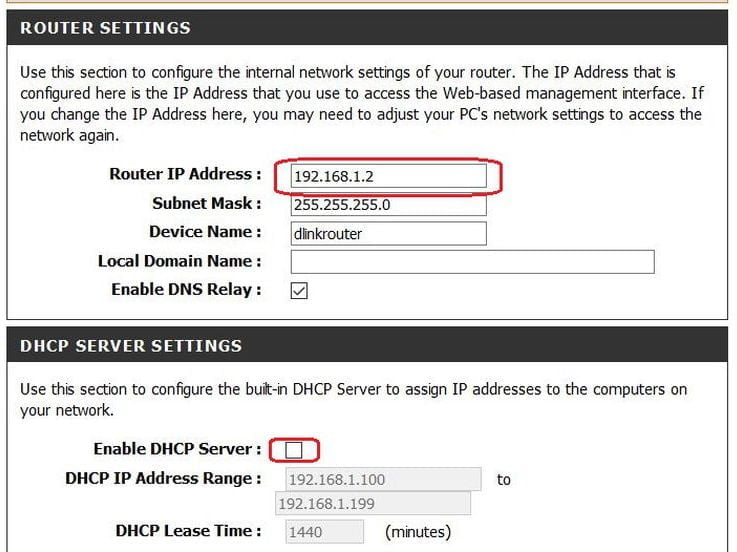 Router IP and DHCP