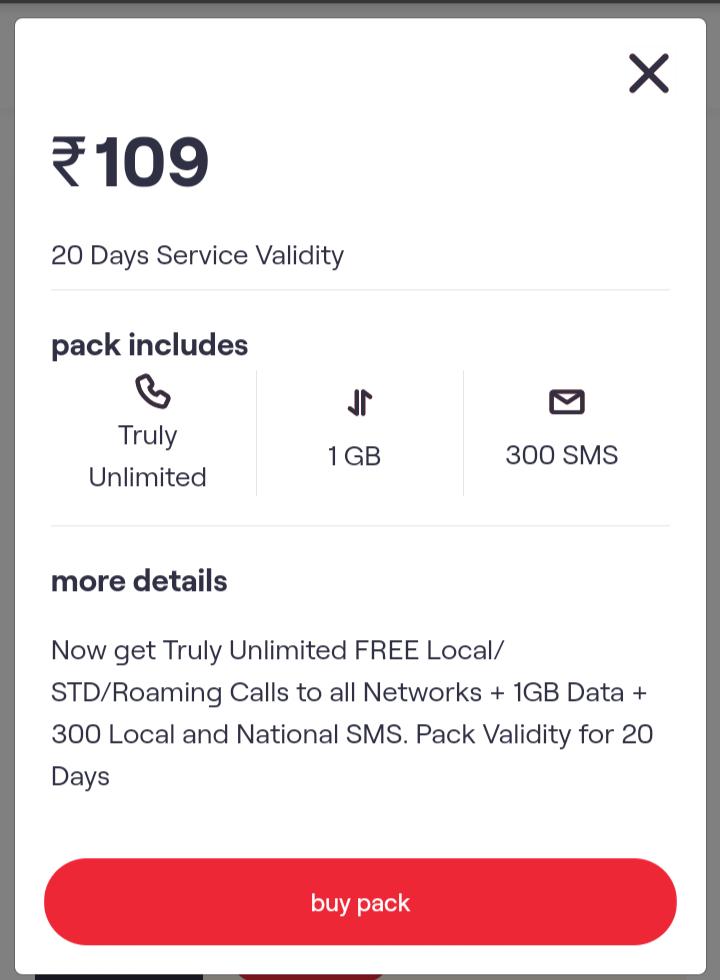 Vi Rs 109 Prepaid Plan