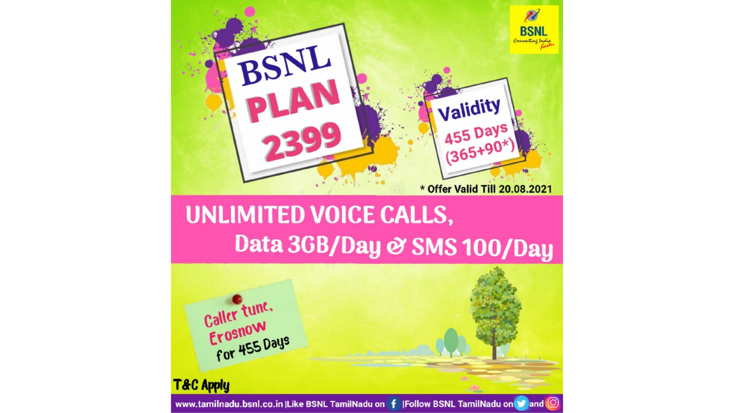 BSNL PV 2399 455 Days Validity scaled