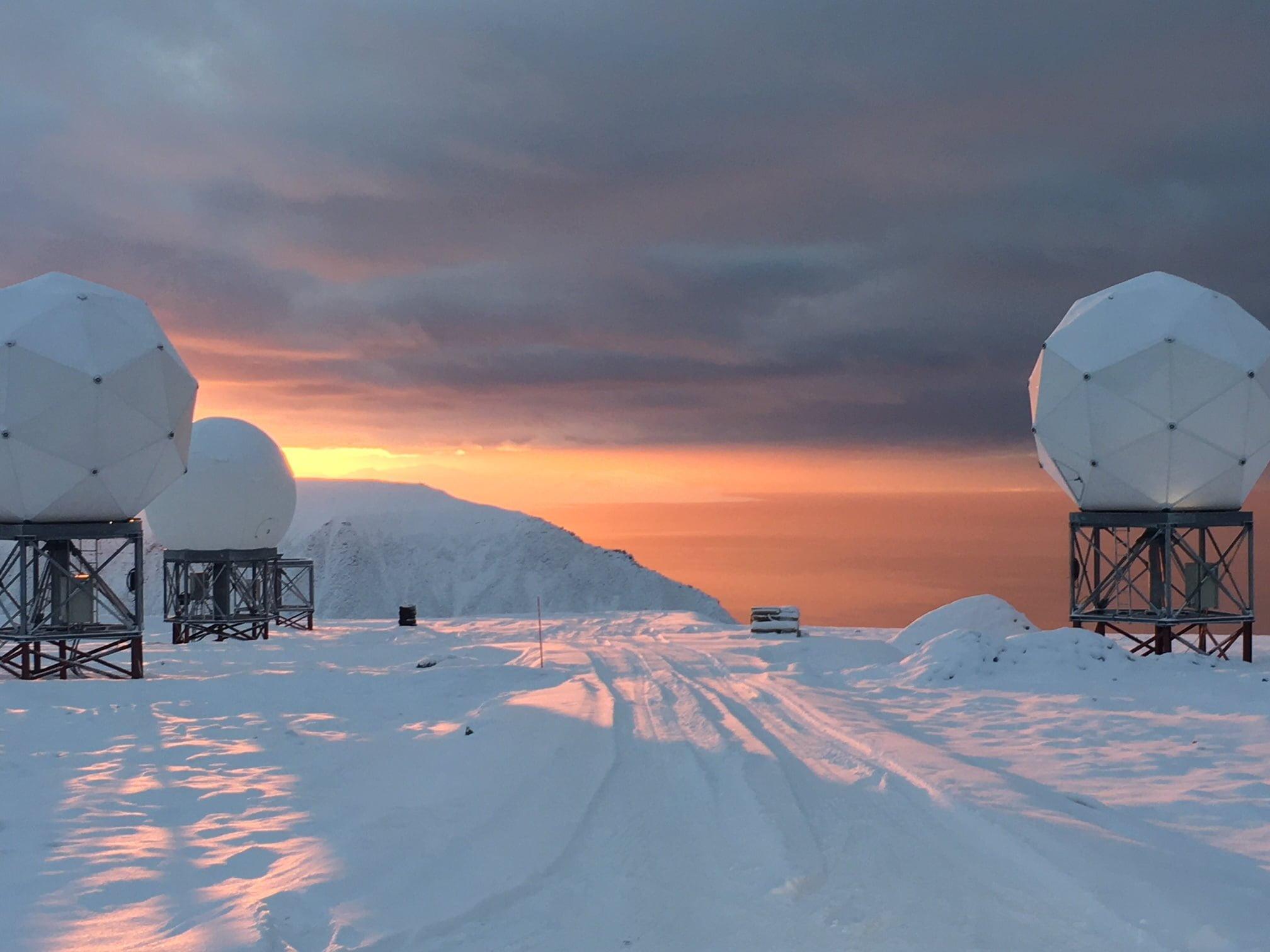 Svalbard Norway. Credit OneWeb I Kongsberg Satellite Services KSAT