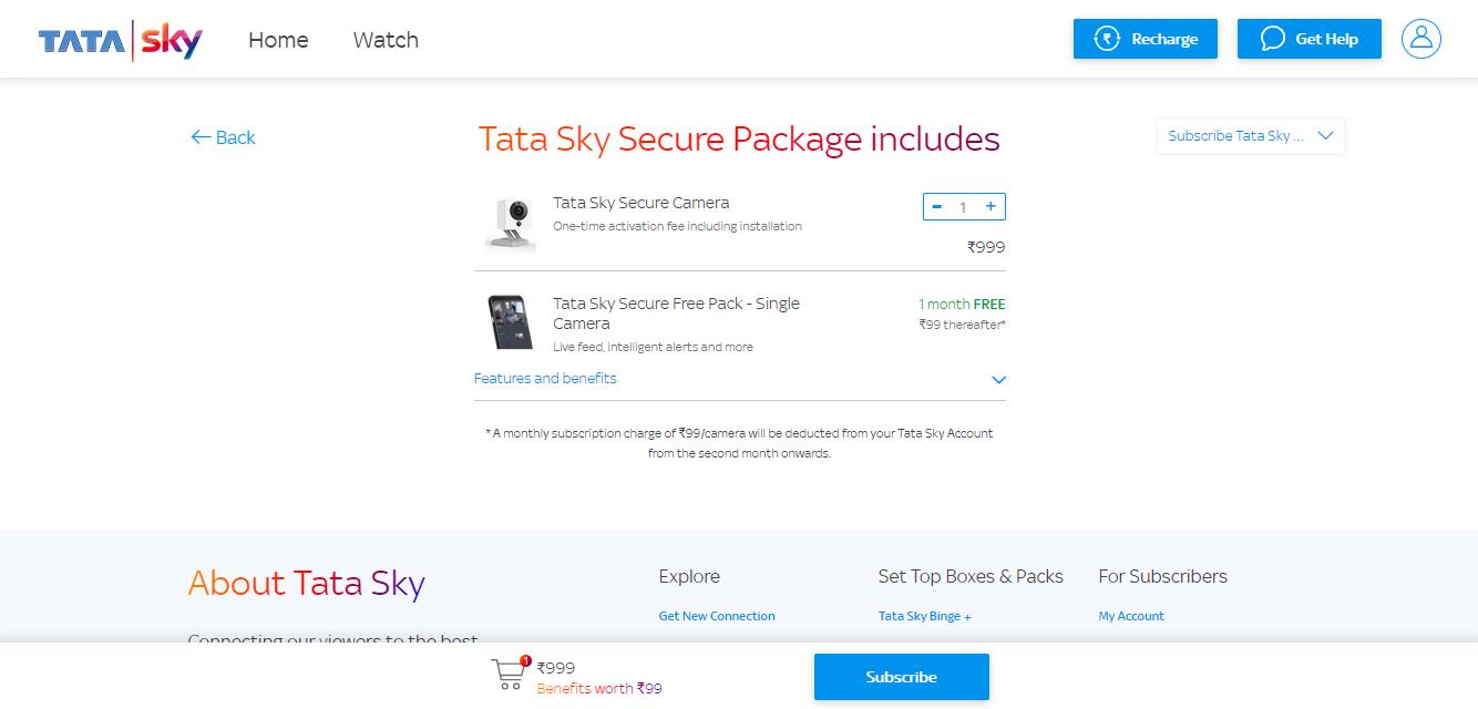 Tata Sky Secure Plans