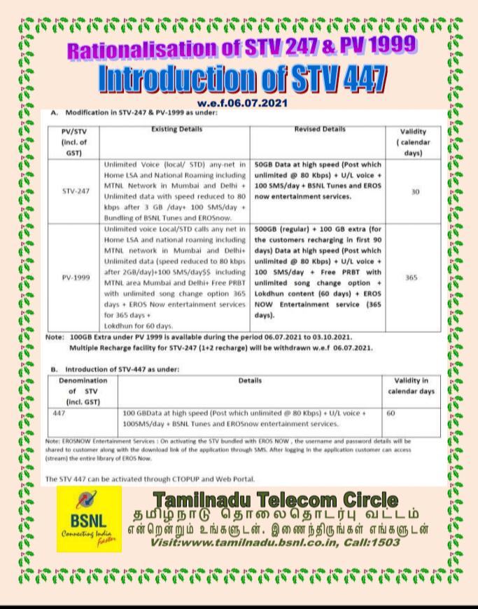 STV 447 BSNL