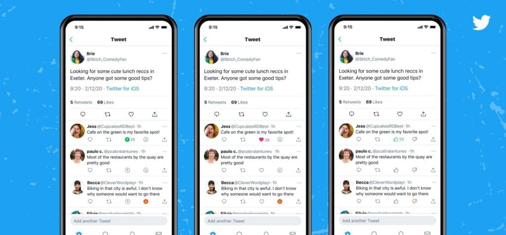 Twitter testing upvote and downvote feature for replies
