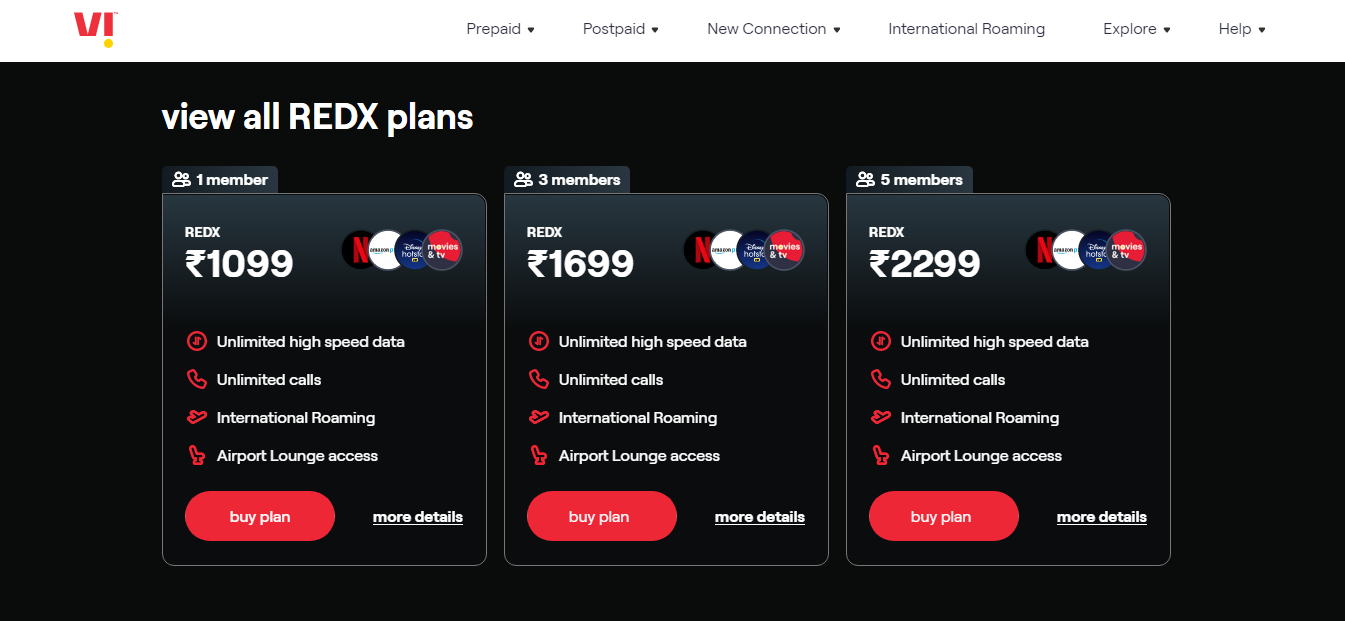 Vi extends flagship REDX offering to 'REDX Family Plan'