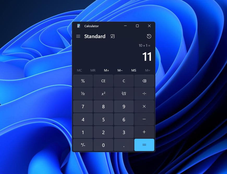 Windows11 Calculator