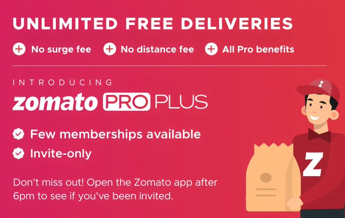 Zomato launches Pro Plus membership with unlimited free deliveries