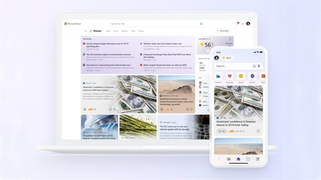 Microsoft Start, a personalized news feed service, launched for mobile and desktop users