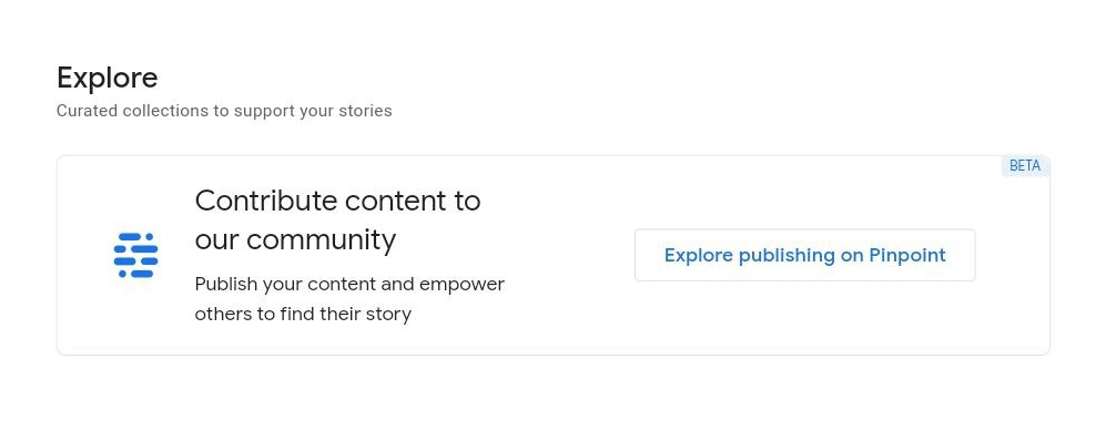 Pinpoint from Google to release beta program for publishing content